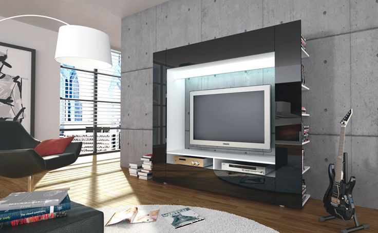 die besten 25 tv medienwand ideen auf pinterest beamer f r tv tv wand hintergrund und tv. Black Bedroom Furniture Sets. Home Design Ideas