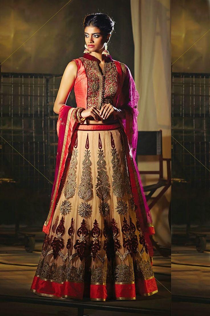 Image Result For Lehenga Sarees Online OnlineLehenga Choli Bridal LehengaOrange ColorIndian