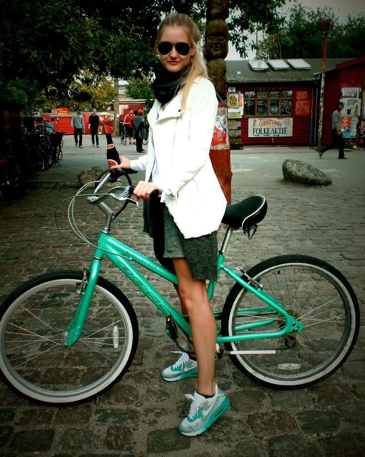 Me and my bicycle in Copenhagen - wearing some fresh Nike air max. Visit : www.StyleScandinavia.com