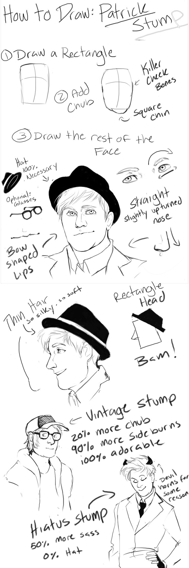 How to draw Patrick Stump