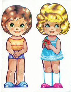 Бумажные куклы. Дети в национальных костюмах :: Текстильные куклы и другие рукоделки Людмилы Щербины