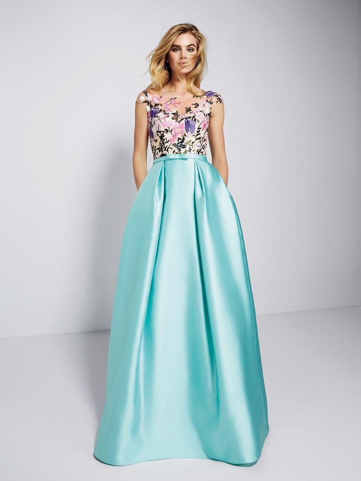 Vestido de fiesta azul cielo - Colección fiesta 2018 Pronovias