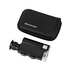 Pocket Microscope, Homebunnyy 200x-240x LED UV Light Professional Microscope for Hobbies Collection: Amazon.co.uk: Business, Industry & Science