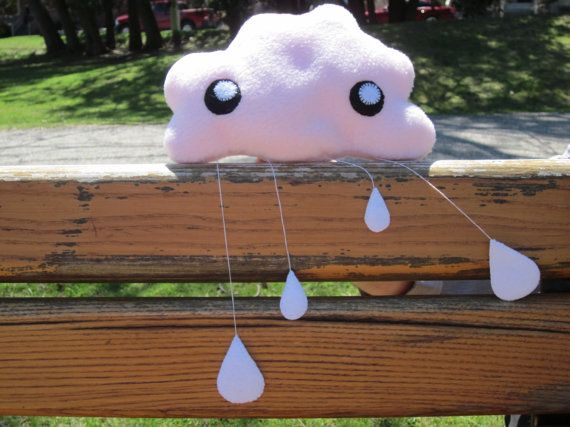 Cute Cloud Mobile/Wall Decoration by KissedByACloud on Etsy