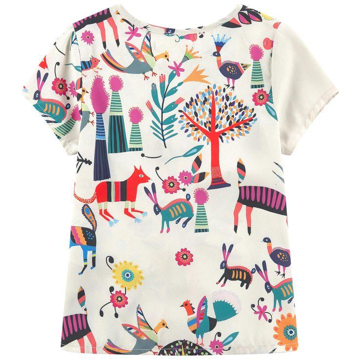 Printed crepe blouse - 154454