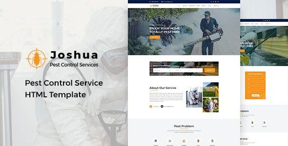 Joshua Pest Control Service Html Template Pest Control Services Html Templates Ecommerce Website Template