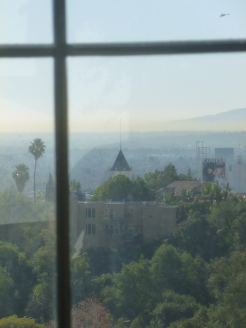 View of Hollywood Blvd from the High Tower Elevator