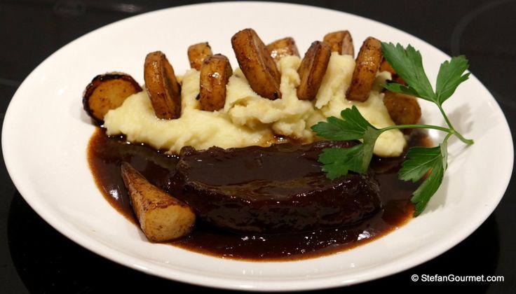 Braised Flat Iron Steak with Parsnip Fondant (Draadjesvlees)