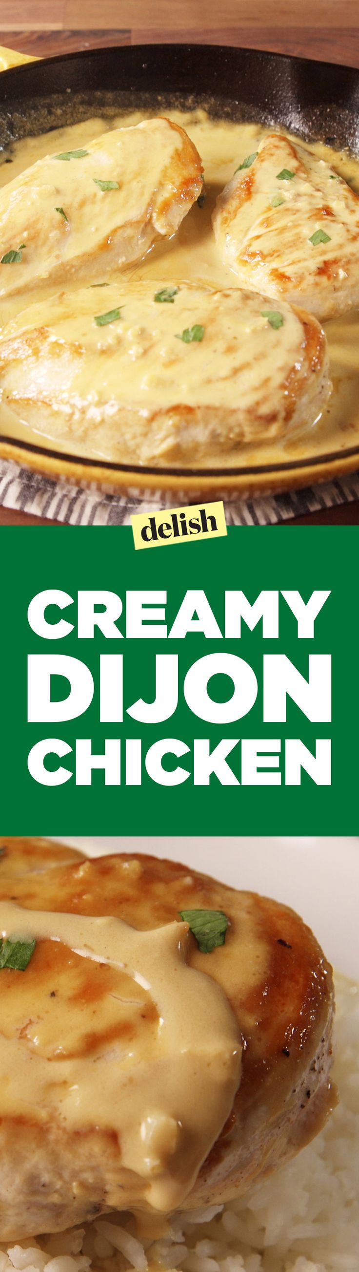 This creamy dijon chicken is covered in what we're calling a classier dijonaise. Get the recipe on Delish.com.
