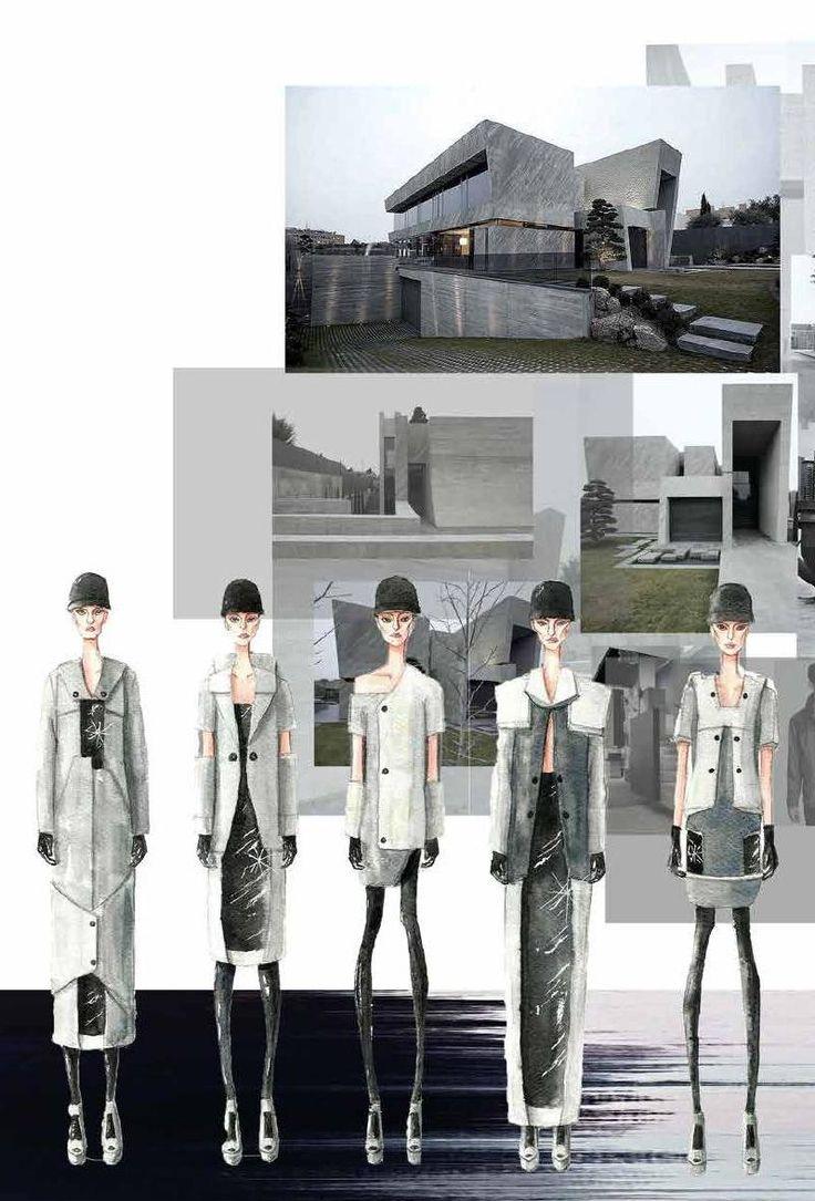 Fashion Sketchbook - fashion & architecture; fashion illustrations; fashion portfolio // Wass Wetaka