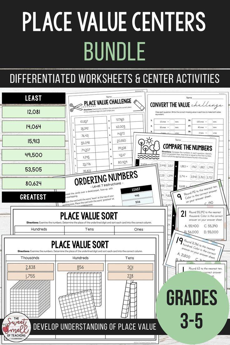 Place Value Centers Bundle In 2020 Math Center Activities Teaching Place Values Place Values [ 1103 x 736 Pixel ]