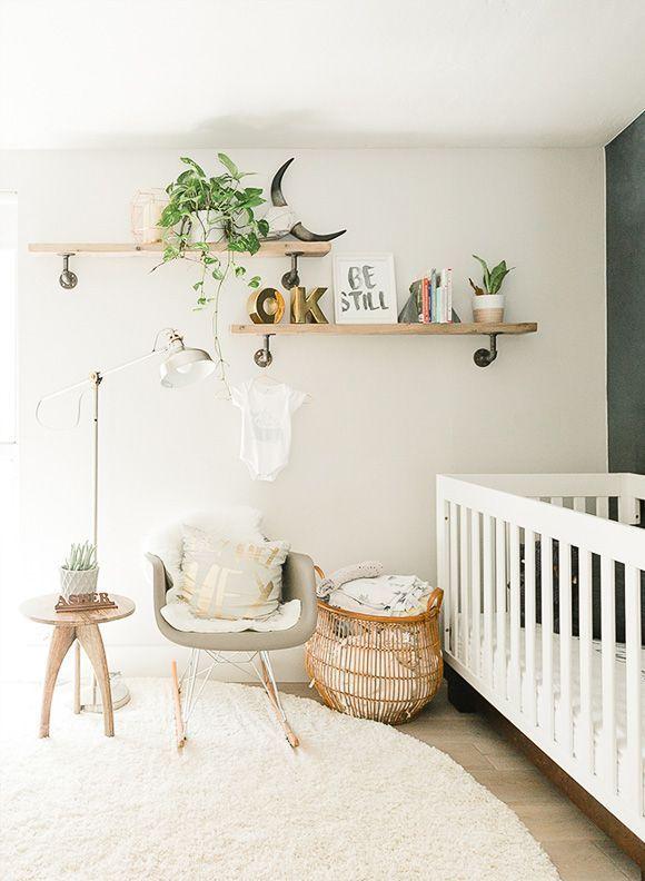 Une décoration bohème et élégante pour une chambre de bébé #scandinave #bohemian # …