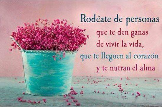 〽️ Rodéate de personas que te den ganas de vivir la vida, que te lleguen al corazón y te nutran el alma