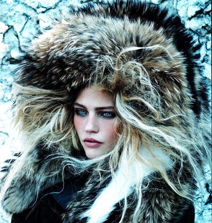 Vogue US Sept 2014 'Call Of The Wild' - Sasha Pivovarova by Mikael Jansson