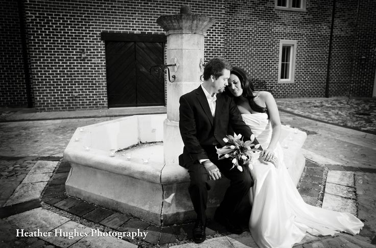 Always love the Williamsburg Winery for weddings & portraits. Gorgeous courtyard with an old European feel. by Heather Hughes Photography