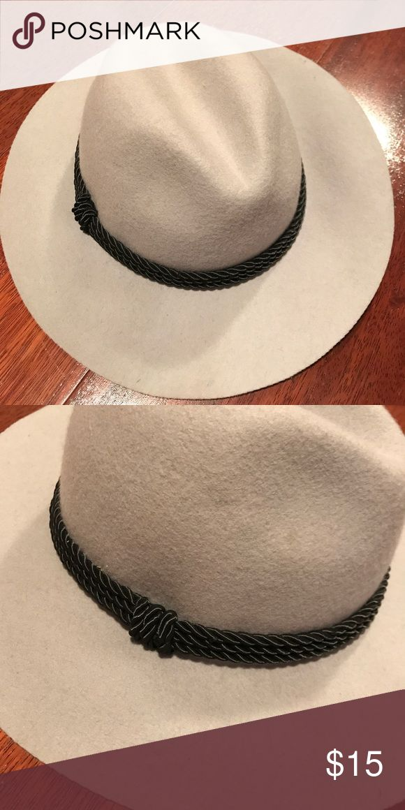 NWOT grey fedora with cute black rope detail NWOT grey fedora with cute black rope detail. Brand unknown. Tagged Brixton for exposure Brixton Accessories Hats
