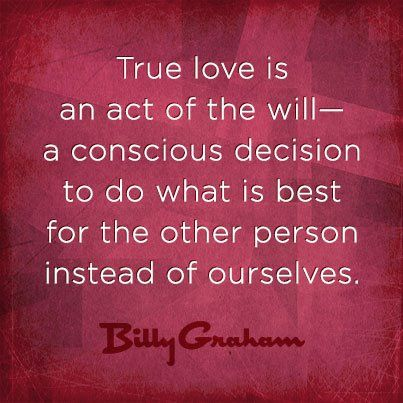 True Love is doing what is best for the other person instead of ourselves... :))