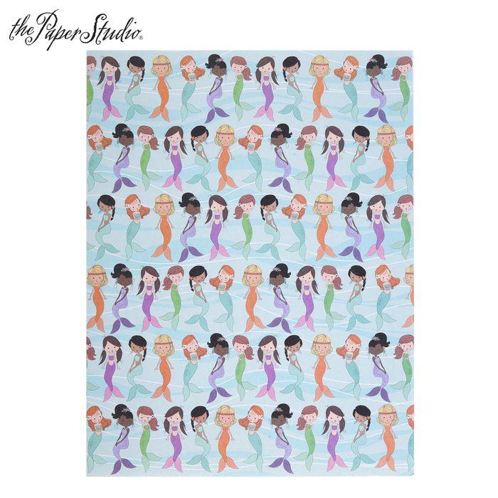 Mermaids Scrapbook Paper 8 1 2 X 11 Scrapbook Paper