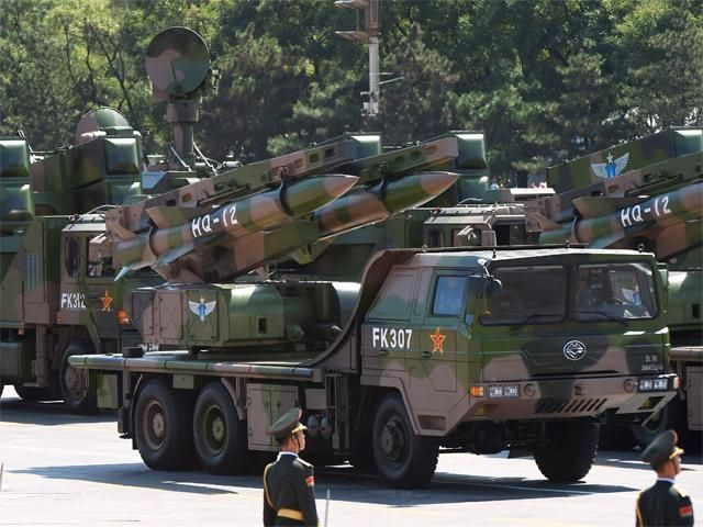 Slideshow : Military vehicles carrying HQ-12 missiles - China holds huge military parade to commemorate WWII victory - The Economic Times