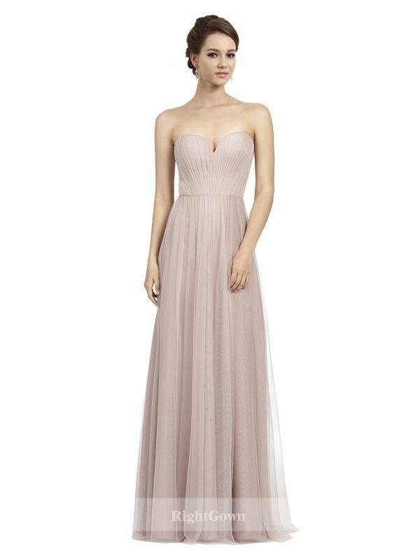 81748d4c48d Cheap Bridal Shop Princess Sweetheart 2018 Long Tulle Pink Bridesmaid  Dresses Sleeveless 173167