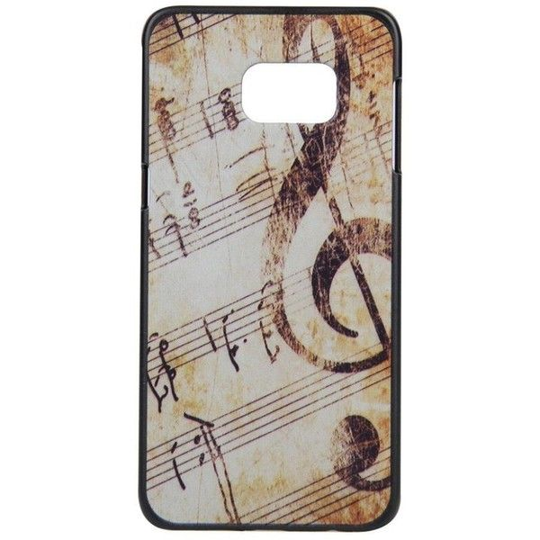 Zerowin for Samsung Galaxy S6 Edge Plus, Hard Music Notes Case Cover ($5.09) ❤ liked on Polyvore featuring accessories, tech accessories and samsung galaxy smartphone