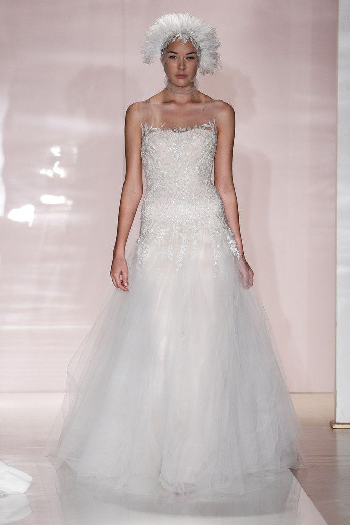 Reem Acra Outono 2014 Vestido de noiva