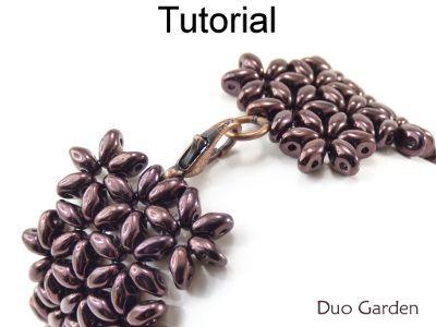 SuperDuo Beaded Flower Bracelet Downloadable Beading Pattern Tutorial | Simple Bead Patterns