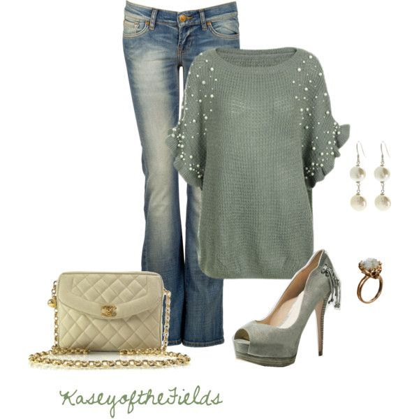 """Mint Pearl"" by kaseyofthefields on Polyvore"