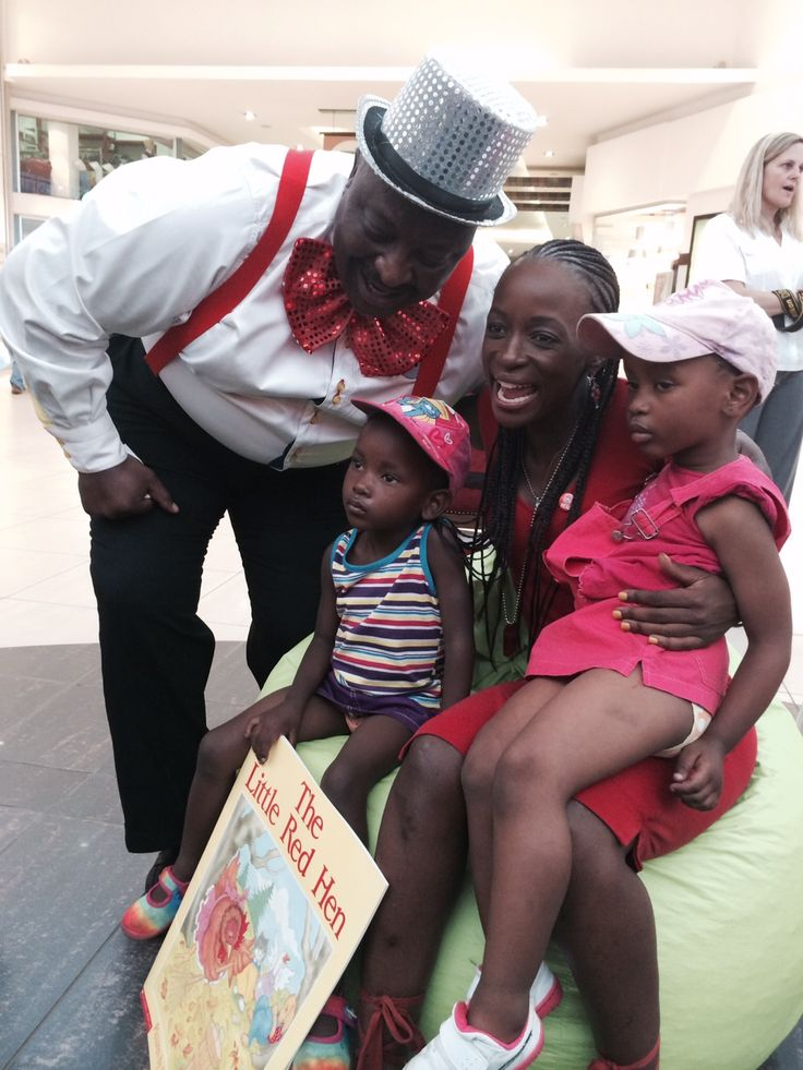 The kids enjoyed meeting Hlubi and Mr Book
