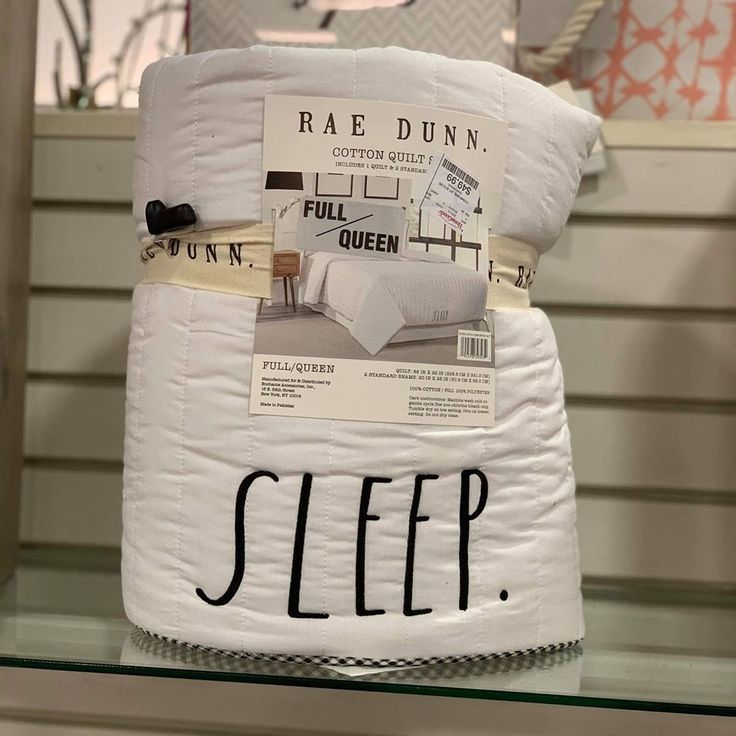 """Rae Dunn New Releases On Instagram: """"(NMP) New SLEEP Quilt"""