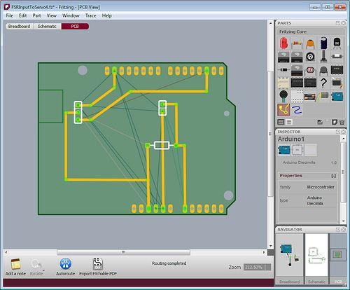 Fritzing est un projet de logiciel libre, destiné aux non-professionnels de l'électronique. Il a notamment pour vocation de favoriser l'échange de circuits électroniques libres et d'accompagner l'apprentissage de la conception de circuits2.