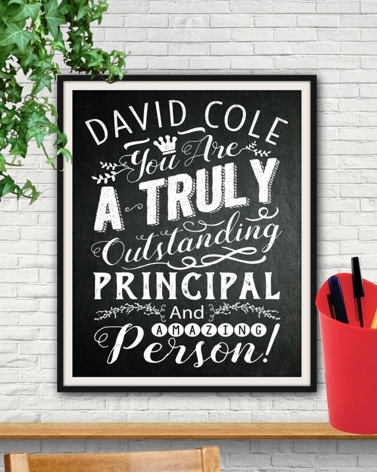 Chalkboard Custom Outstanding Principal Print, Principal Gift, Principal, Gift For Principal, School Principal, Principal Appreciation, Art by http://starprintshop.etsy.com