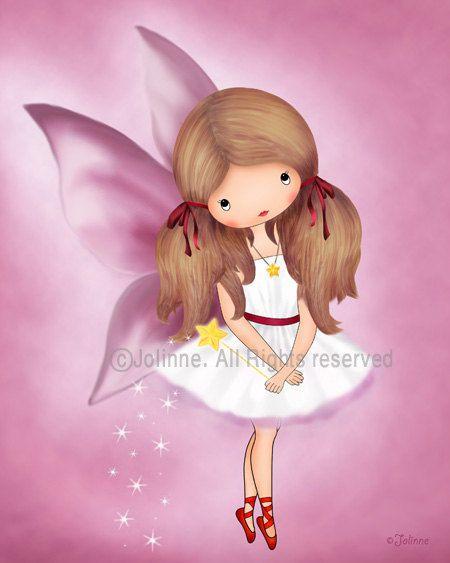 Girls room decor fairy art angel wall art kids art by jolinne, $16.00