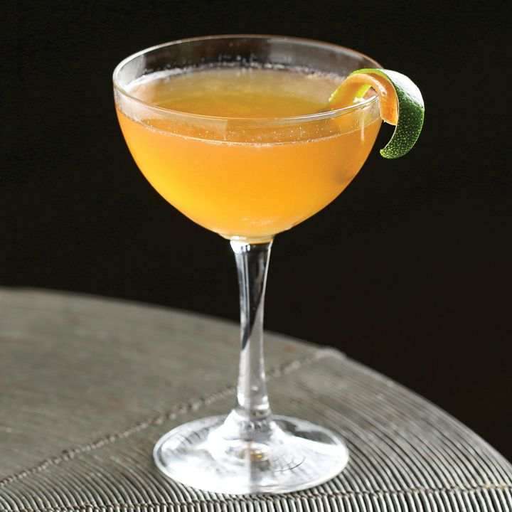 Undead Gentleman: This modern Tiki cocktail takes the Zombie, a fairly complex drink, cuts down the number of ingredients and puts it in a coupe.