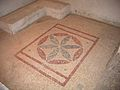 Six pedal flower mosaic as seen in Israel, Wohl Archaeological Museum, The Herodian Quarter, 40 - 5 BC.