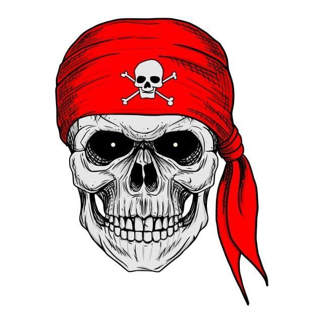 Caveira De Pirata Com Desenho De Mao De Bandana Vermelha Agil Arte Fundo Imagem Png E Vetor Para Download Gratuito How To Draw Hands Pirate Skull Skull Drawing