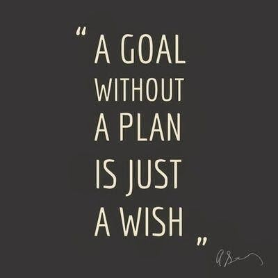 A Goal without a plan is JUST a wish.. Wishes are for loosers. Plans are for winners! (And so are babes. wink wink. .. and suits!)