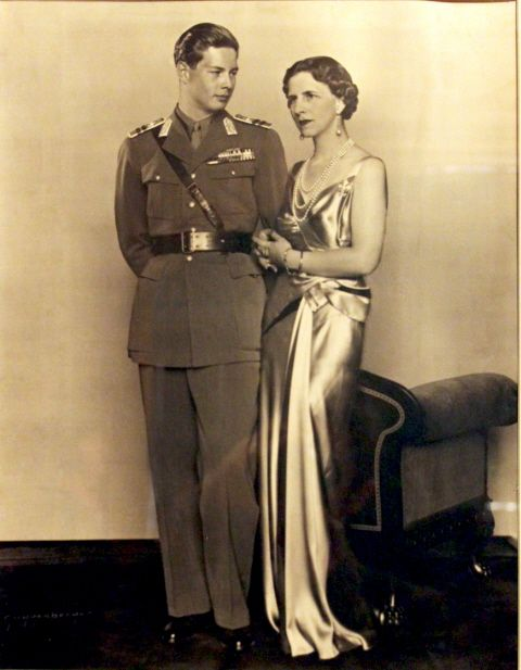 Princess Helen with her son Mihai I of Romania