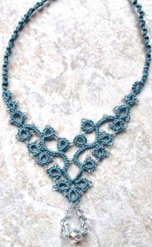 Turquoise        Last one of Jon's necklace.  This one was done in Lizbeth, size 3, country turquoise med.          88 of 100 motif challen...