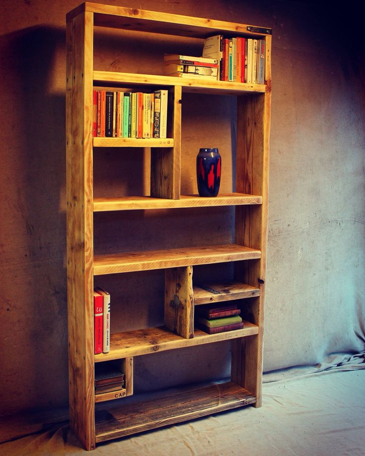 Reclaimed Wood Bookcases / Ideas and Inspiration - Handmade & Bespoke by OldManAndMagpie on Etsy
