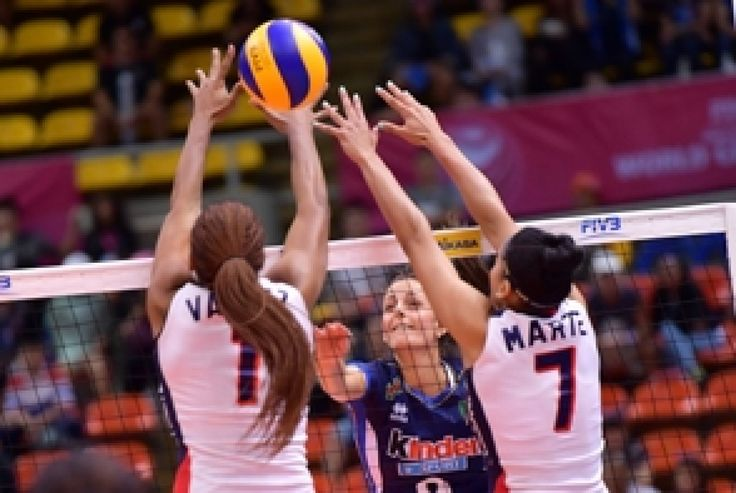 Italia despachó tres sets a cero a República Dominicana en el Grand Prix 2017 de voleibol mundial.