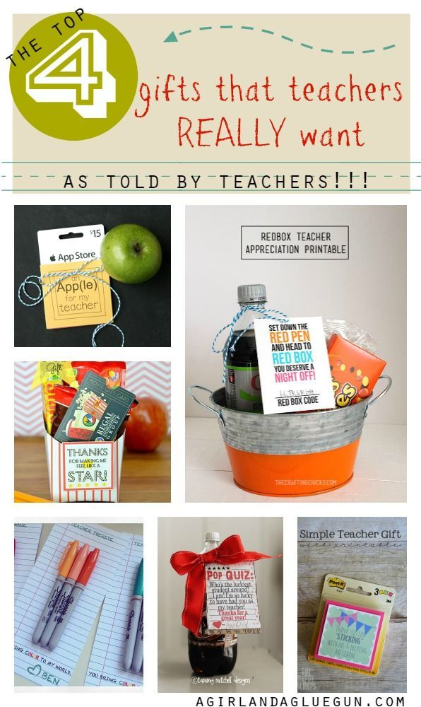 DIY Teacher Gifts | The top 4 gifts that teachers really want--told BY teachers!