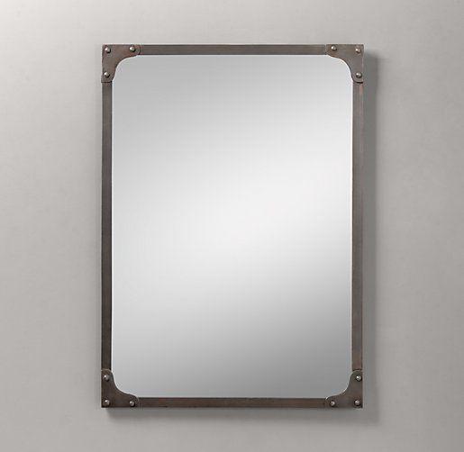 Industrial Rivet Dresser Mirror Mirrors Restoration Hardware Baby C