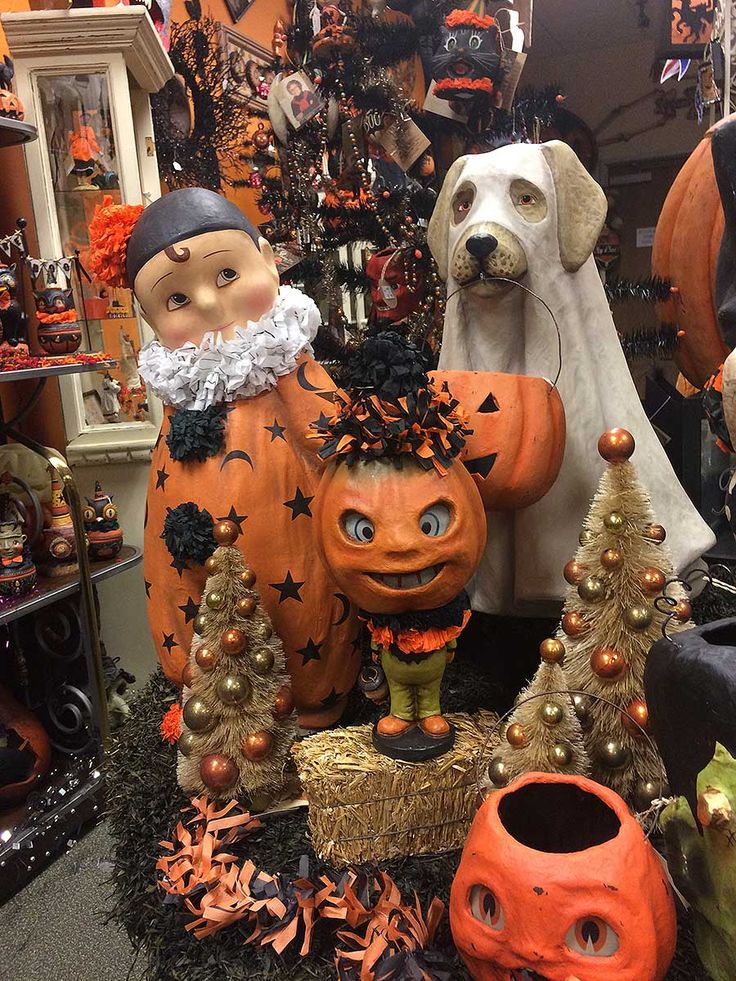 Lots of Bethany Lowe Halloween paper mache figures and ...