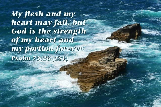 Verse of the Day: Rock of Strength - Psalm 73:26