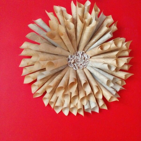 Book Wreath For The Wall