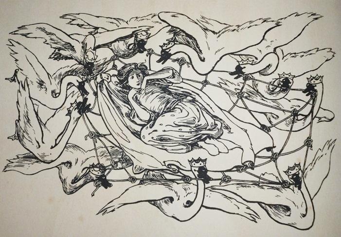 The Wild Swans -- Helen Stratton -- Fairytale Illustration