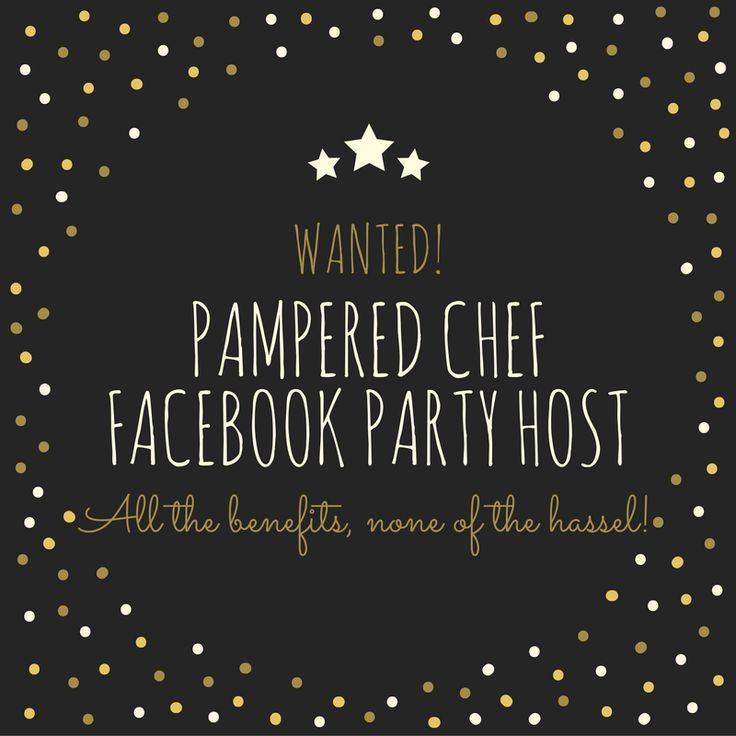 Host an online party and get all the perks of being a host--FREE and discounted Pampered Chef Products, recipe ideas, product suggestions and more!