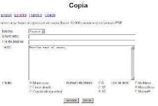 Generador de Caligrafía online