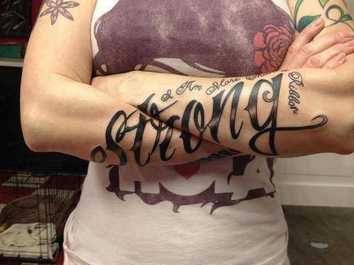 People often look to their tattoos for inspiration as can be seen in this gallery of tattoo quotes.